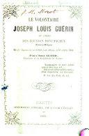 Le volontaire Joseph Louis Guérin du corps des zouaves pontificaux franco-belges né à Sainte-Pazanne