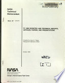 Fy 1989 Scientific And Technical Reports Articles Papers And Presentations Book PDF