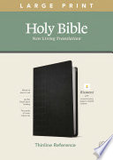 NLT Large Print Thinline Reference Bible  Filament Enabled Edition  Red Letter  Leatherlike  Black