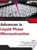Advances in Liquid Phase Microextraction  Penerbit USM