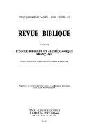 Revue biblique