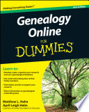 """""""Genealogy Online For Dummies"""" by Matthew L. Helm, April Leigh Helm"""