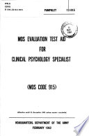 MOS Evaluation Test Aid for Clinical Psychology Specialist