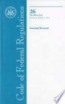 Code Of Federal Regulations Title 26 Internal Revenue Pt 600 End Revised As Of April 1 2010
