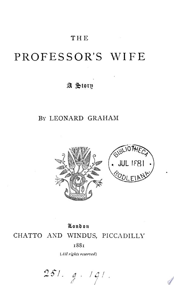 The professor s wife
