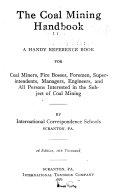 The Coal Mining Handbook  Book PDF