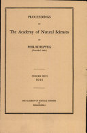 Proceedings of The Academy of Natural Sciences (Vol. XCVI, 1944)