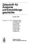 Zeitschrift f  r Anatomie und Entwicklungsgeschichte