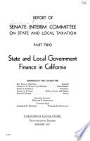 State and local government finance in California