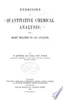 Exercises in Quantitative Chemical Analysis