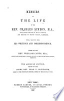 Memoirs of the Life of the Rev  Charles Simeon