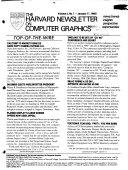 The Harvard Newsletter on Computer Graphics