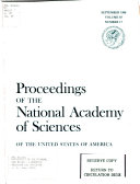 Proceedings of the National Academy of Sciences of the United States of America Book