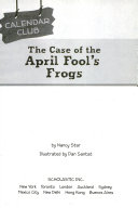 The Case of the April Fool's Frogs ebook