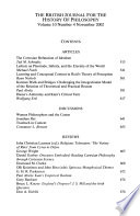 British journal for the history of philosophy