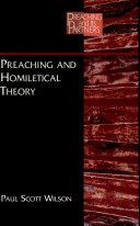 Preaching & Homiletical Theory: Preaching
