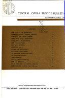 Central Opera Service Bulletin Book