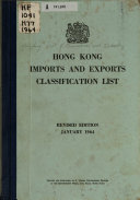 Pdf Hong Kong Imports and Exports Classification List