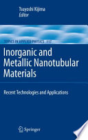 Inorganic and Metallic Nanotubular Materials Book