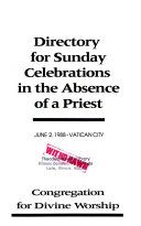 Directory for Sunday Celebrations in the Absence of a Priest