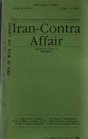 Report of the Congressional Committees Investigating the Iran Contra Affair