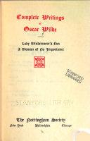 Lady Windermere s fan  A woman of no importance