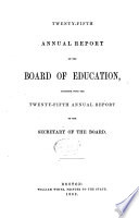 Annual Report of the Board of Education Book