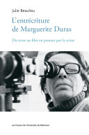 Pdf L'entrécriture de Marguerite Duras Telecharger