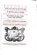 Istoria delle investiture delle dignita ecclesiastiche. Con dugento, e 4 lettere ... del medesimo autore