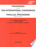 Proceedings of the 1995 International Conference on Parallel Processing