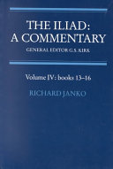 The Iliad  A Commentary  Volume 4  Books 13 16