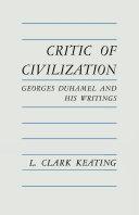 Pdf Critic of Civilization Telecharger