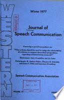 JOURNAL OF SPEECH COMMUNICATION