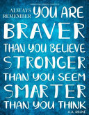 Inspirational Journal to Write in   Always Remember You Are Braver