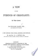 A View of the Evidences of Christianity ... With annotations by R. Whately