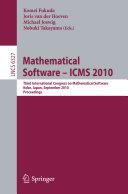 Mathematical Software   ICMS 2010