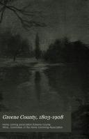 Greene County  1803 1908