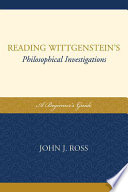 Reading Wittgenstein's Philosophical Investigations