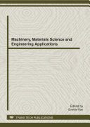 Machinery  Materials Science and Engineering Applications  MMSE2012