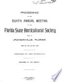 Proceedings of the     Annual Meeting of the Florida State Horticultural Society