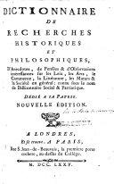 Pdf Dictionnaire de recherches historiques et philosophiques ... Nouvelle édition. [By P. Le Fèvre de Beauvray.]
