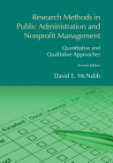 Research Methods in Public Administration and Nonprofit Management Pdf/ePub eBook