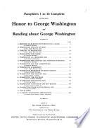 Honor to George Washington and Reading about George Washington