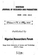 Nigerian Journal of Research and Production