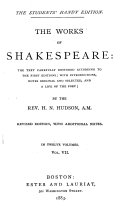 The Works of Shakespeare  the Text Carefully Restored According to the First Editions  Henry V  pt  1  2 and 3