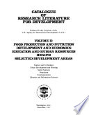 Catalogue of Research Literature for Development