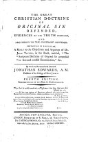 Pdf The Great Christian Doctrine of Original Sin Defended