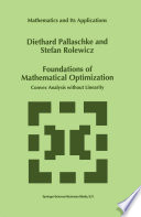 Foundations of Mathematical Optimization