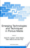 Emerging Technologies And Techniques In Porous Media Book PDF