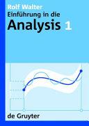 Einführung in die Analysis